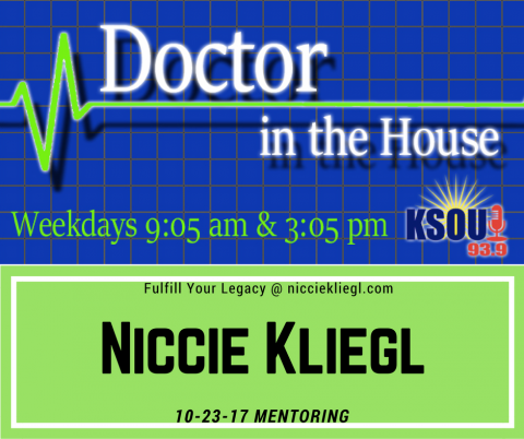 DR IN THE HOUSE NICCIE KLIEGL ON MENTORING