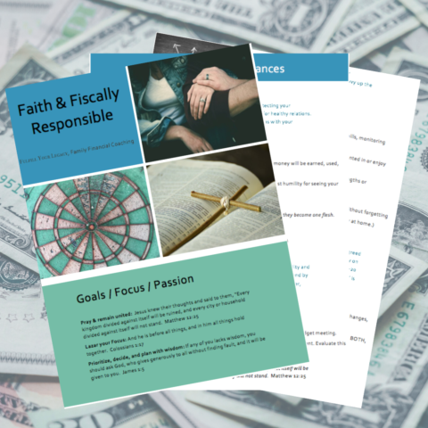 Faith and Fiscally Responsible workbook